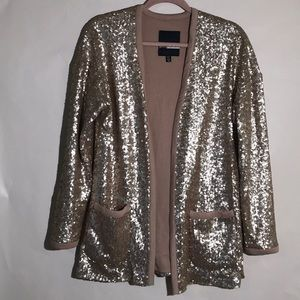 Plenty By Tracy Reese blazer sequence rise gold XS